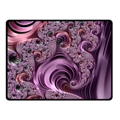 Purple Abstract Art Fractal Art Fractal Fleece Blanket (small)