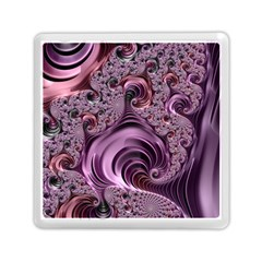 Purple Abstract Art Fractal Art Fractal Memory Card Reader (square)