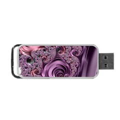 Purple Abstract Art Fractal Art Fractal Portable Usb Flash (one Side)