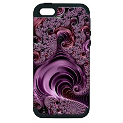 Purple Abstract Art Fractal Art Fractal Apple Iphone 5 Hardshell Case (pc+silicone)