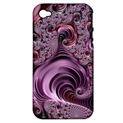 Purple Abstract Art Fractal Art Fractal Apple Iphone 4/4s Hardshell Case (pc+silicone)