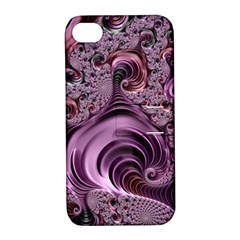 Purple Abstract Art Fractal Art Fractal Apple Iphone 4/4s Hardshell Case With Stand