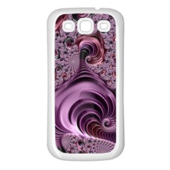 Purple Abstract Art Fractal Art Fractal Samsung Galaxy S3 Back Case (white)