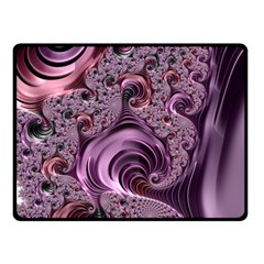 Purple Abstract Art Fractal Art Fractal Double Sided Fleece Blanket (small)