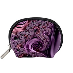Purple Abstract Art Fractal Art Fractal Accessory Pouches (small)