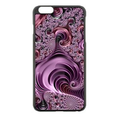 Purple Abstract Art Fractal Art Fractal Apple Iphone 6 Plus/6s Plus Black Enamel Case