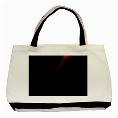 Lines Dark Sky Space Blue Basic Tote Bag (Two Sides)