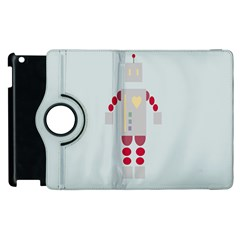 Machine Engine Robot Apple Ipad 2 Flip 360 Case