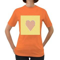 Little Valentine Pink Yellow Women s Dark T Shirt