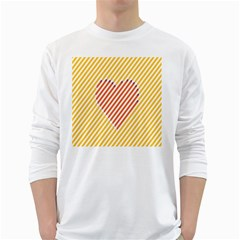 Little Valentine Pink Yellow White Long Sleeve T Shirts
