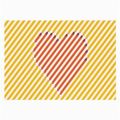 Little Valentine Pink Yellow Large Glasses Cloth (2-Side)