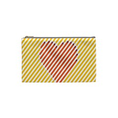 Little Valentine Pink Yellow Cosmetic Bag (small)