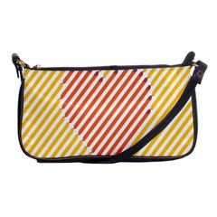 Little Valentine Pink Yellow Shoulder Clutch Bags