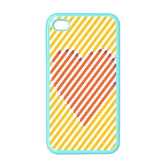 Little Valentine Pink Yellow Apple iPhone 4 Case (Color)