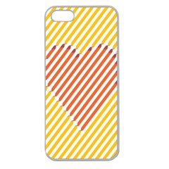 Little Valentine Pink Yellow Apple Seamless iPhone 5 Case (Clear)