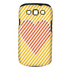 Little Valentine Pink Yellow Samsung Galaxy S Iii Classic Hardshell Case (pc+silicone)