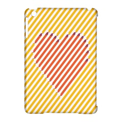 Little Valentine Pink Yellow Apple iPad Mini Hardshell Case (Compatible with Smart Cover)