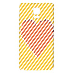 Little Valentine Pink Yellow Galaxy Note 4 Back Case