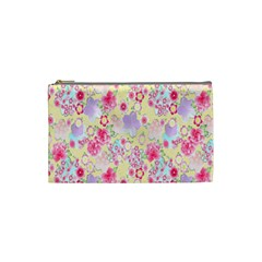 Flower Arrangements Season Floral Pink Purple Star Rose Cosmetic Bag (small)