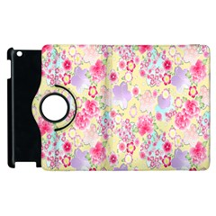 Flower Arrangements Season Floral Pink Purple Star Rose Apple iPad 2 Flip 360 Case