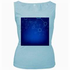 Molecules Classic Medicine Medical Terms Comprehensive Study Medical Blue Women s Baby Blue Tank Top