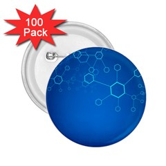 Molecules Classic Medicine Medical Terms Comprehensive Study Medical Blue 2 25  Buttons (100 Pack)
