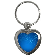 Molecules Classic Medicine Medical Terms Comprehensive Study Medical Blue Key Chains (heart)