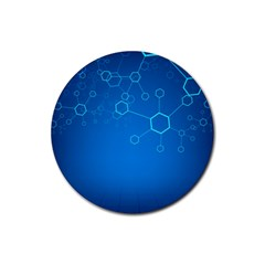 Molecules Classic Medicine Medical Terms Comprehensive Study Medical Blue Rubber Round Coaster (4 Pack)