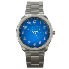 Molecules Classic Medicine Medical Terms Comprehensive Study Medical Blue Sport Metal Watch