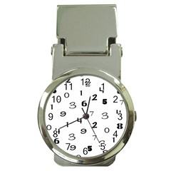 Number Black Money Clip Watches