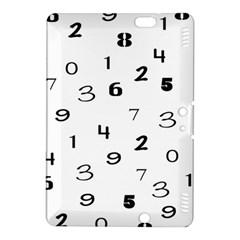 Number Black Kindle Fire HDX 8.9  Hardshell Case