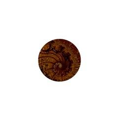 Copper Caramel Swirls Abstract Art 1  Mini Buttons