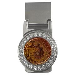 Copper Caramel Swirls Abstract Art Money Clips (CZ)