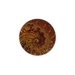 Copper Caramel Swirls Abstract Art Golf Ball Marker (4 Pack)
