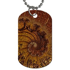 Copper Caramel Swirls Abstract Art Dog Tag (two Sides)