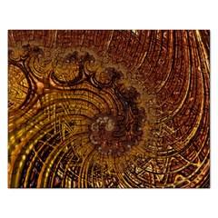 Copper Caramel Swirls Abstract Art Rectangular Jigsaw Puzzl