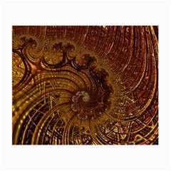 Copper Caramel Swirls Abstract Art Small Glasses Cloth