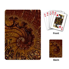 Copper Caramel Swirls Abstract Art Playing Card