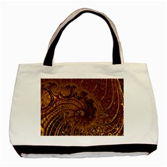 Copper Caramel Swirls Abstract Art Basic Tote Bag