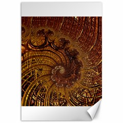Copper Caramel Swirls Abstract Art Canvas 12  X 18