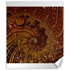 Copper Caramel Swirls Abstract Art Canvas 20  X 24