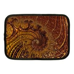 Copper Caramel Swirls Abstract Art Netbook Case (Medium)