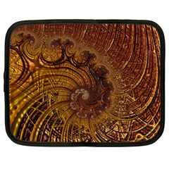 Copper Caramel Swirls Abstract Art Netbook Case (large)