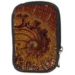 Copper Caramel Swirls Abstract Art Compact Camera Cases