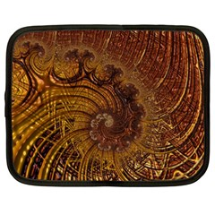 Copper Caramel Swirls Abstract Art Netbook Case (xxl)