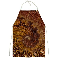 Copper Caramel Swirls Abstract Art Full Print Aprons