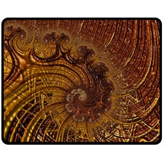 Copper Caramel Swirls Abstract Art Fleece Blanket (medium)