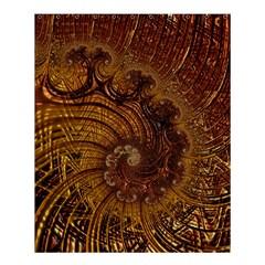 Copper Caramel Swirls Abstract Art Shower Curtain 60  X 72  (medium)
