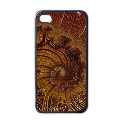 Copper Caramel Swirls Abstract Art Apple Iphone 4 Case (black)