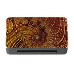 Copper Caramel Swirls Abstract Art Memory Card Reader with CF